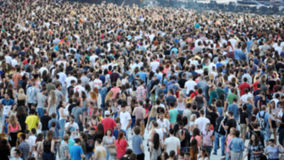 Crowd of blurred people Royalty Free Stock Images