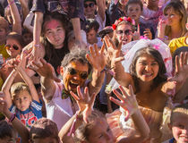 Crowd of blurred people Stock Images