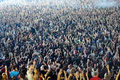 Crowd of blurred people Royalty Free Stock Photo