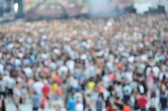 Crowd of blurred people Royalty Free Stock Image