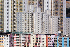 Crowd buildings Royalty Free Stock Image
