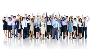 Crowd Business People Celebration Success Team Concept Stock Photos