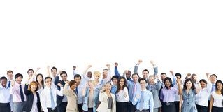 Crowd Business People Celebration Success Togetherness Team Conc Royalty Free Stock Images