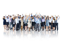 Crowd Business People Celebration Success Togetherness Team Stock Image