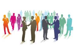 Crowd of business people Stock Images