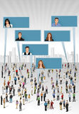 Crowd of business people Stock Photos