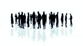 Crowd of business people stock illustration