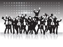 Crowd of business peoples Royalty Free Stock Photos
