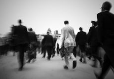 Crowd Of Businessmen On Their Way To Work Stock Photo