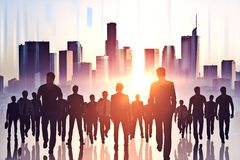 Meeting and success concept royalty free stock photography