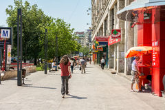 Crowd Of Busy People Going To Work. BUCHAREST, ROMANIA - JUNE 09, 2014: Crowd Of Busy People Going To Work In Piata Unirii (Unification Square) Of Bucharest. It Royalty Free Stock Images