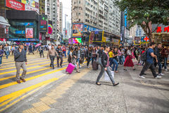 Crowd at Causeway Bay Stock Photography