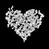 Crowd Chaos Heart. Crowd of small symbolic 3d figures, isolated Royalty Free Stock Images