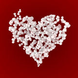Crowd Chaos Heart, Red Stock Photos