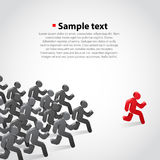 Crowd chasing leader. Background. Clean vwctor illustration Royalty Free Stock Image