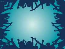 Crowd cheering vector. Vector illustration of crowd cheering Stock Images