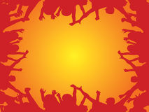 Crowd cheering vector Stock Image