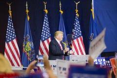 Crowd Cheers as Trump Speaks in Lancaster County Stock Image