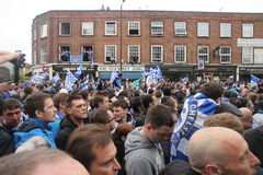 Crowd of Chelsea fans Stock Photography