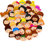 Crowd of children cartoon. Illustration of Crowd of children cartoon Stock Photography
