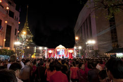The crowd in chinese new year celebration Stock Images