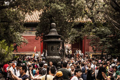 Crowd of Chinese People Royalty Free Stock Images