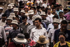 Crowd of Chinese People Royalty Free Stock Photo