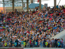 Crowd on the city stadium Stock Photos