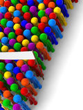 Crowd of colored people. A crowd of colorful people standing in line.  Three-dimensional rendering of abstract figures Royalty Free Stock Photo