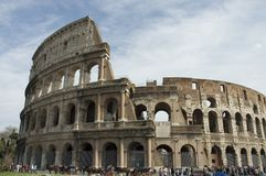Crowd in Colosseum Royalty Free Stock Image