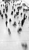Crowd of commuters. In motion blur Royalty Free Stock Photos