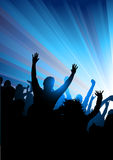 Crowd at A Concert Royalty Free Stock Photo