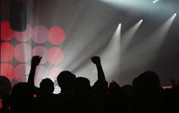 Crowd at a concert Royalty Free Stock Photography
