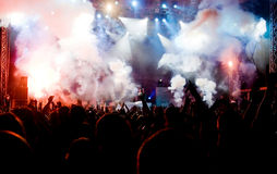 Crowd at concert Royalty Free Stock Photo