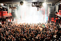 Crowd in a concert at Apolo (venue) Royalty Free Stock Image