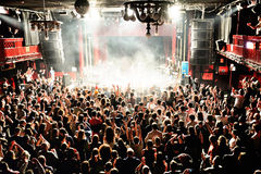 Crowd in a concert at Apolo (venue) Stock Photo