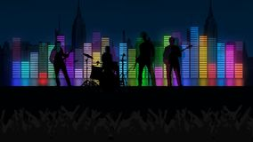 Crowd at concert background stock illustration