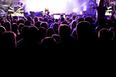 Crowd at concert and blurred stage lights. Picture stock photography