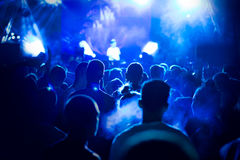 Crowd at concert and blurred stage lights. Picture stock photo