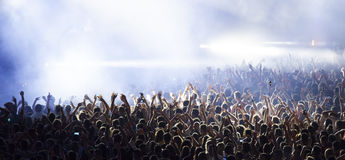Crowd at concert. Cheering crowd at a concert Royalty Free Stock Images