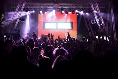 Crowd in a concert stock photography