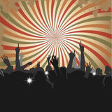 Crowd at a Concert 2. Crowd at a Concert or in Club with silhouettes 2 Royalty Free Stock Image