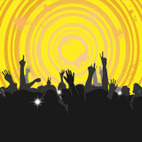 Crowd at a Concert 3 Royalty Free Stock Image