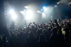 Crowd in a concert Stock Photos