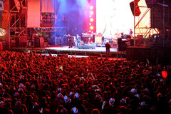 Crowd in a concert at Dcode Festival Royalty Free Stock Images