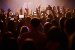 Crowd at the concert Royalty Free Stock Images