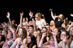 Crowd in a concert at FIB Festival Royalty Free Stock Photos