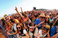Crowd in a concert at FIB Festival Royalty Free Stock Photography