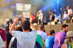 Crowd in a concert at FIB Festival Royalty Free Stock Images
