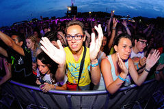 Crowd in a concert at FIB Festival Stock Photography